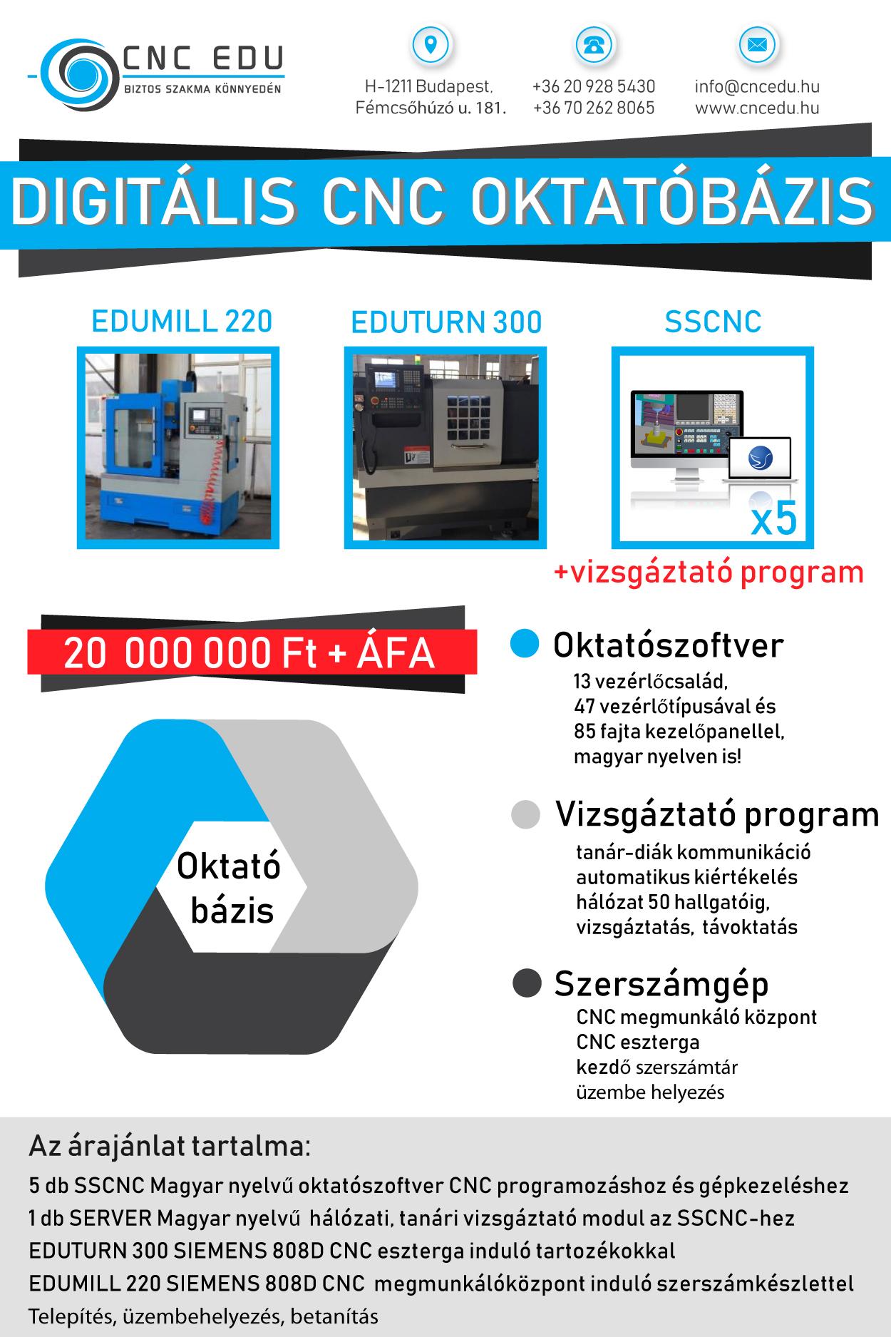 Digitális CNC oktatóbázis